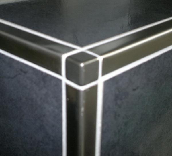 fliesen herdt schl ter quadec e ecke 12 5mm v4a. Black Bedroom Furniture Sets. Home Design Ideas